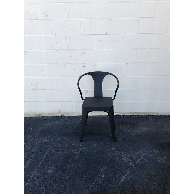 Industrial Black Tolix Chairs - Set of 4 For Sale - Image 3 of 5
