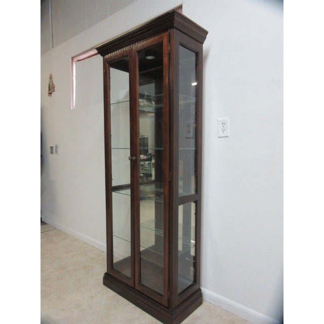 Vintage Pulaski Mahogany China Cabinet For Sale - Image 11 of 11