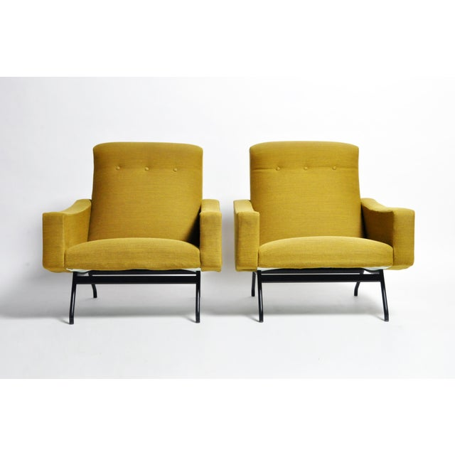 1960s Vintage Joseph-André Motte French Armchairs - a Pair For Sale - Image 13 of 13
