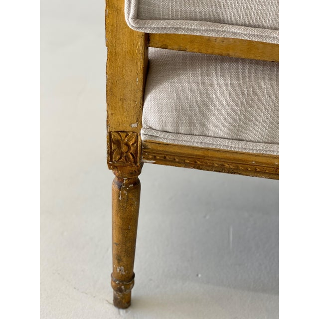 Ivory 19th Century Gilt Wood Settee For Sale - Image 8 of 10
