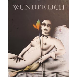 1977 Original Art Poster, Paul Wunderlich, Flower for Olympia For Sale