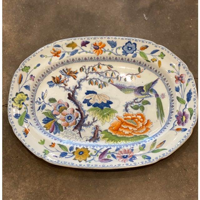 "19th Century Antique ""Flying Bird"" Davenport Platter For Sale - Image 5 of 8"