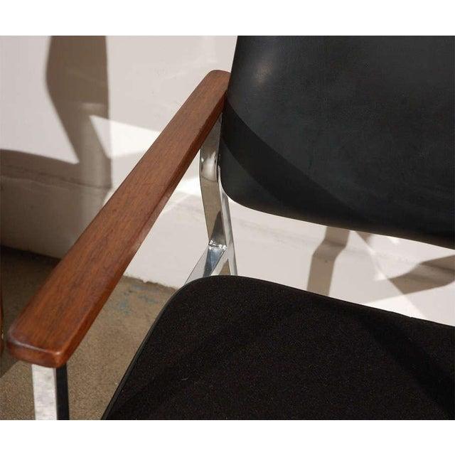 Pair of Mid century modern armchairs. Timeless, very nice modern Danish Classic Mid-Century vintage open armchairs Vinyl...