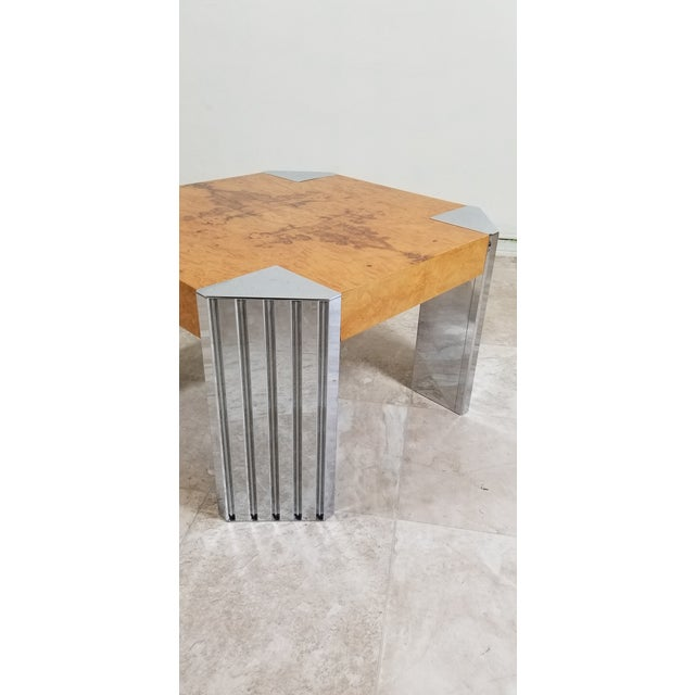 Burl Wood Coffee Table For Sale - Image 10 of 12