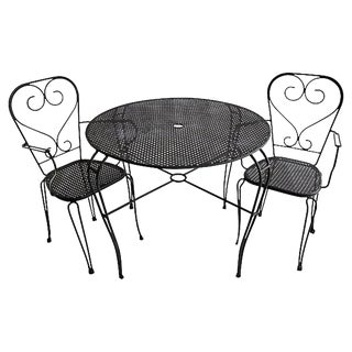 1950s Vintage Cafe Table & Chairs - 3 Pieces For Sale