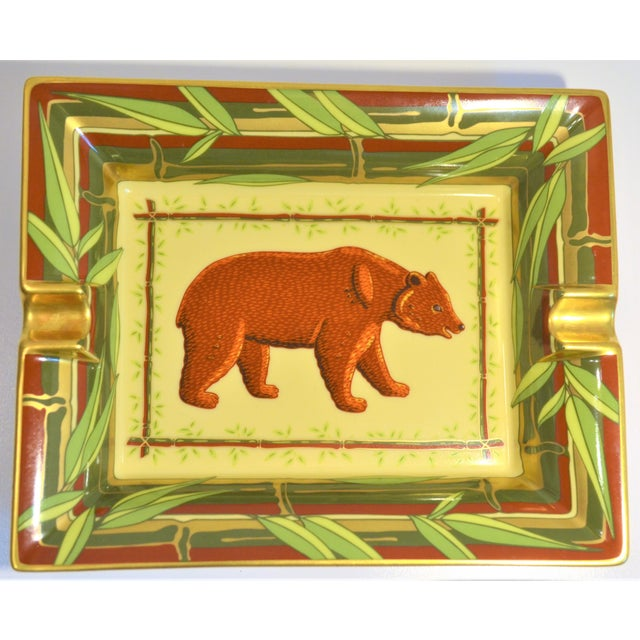 Vintage Hermès Bear and Bamboo Cigar Tray For Sale - Image 13 of 13