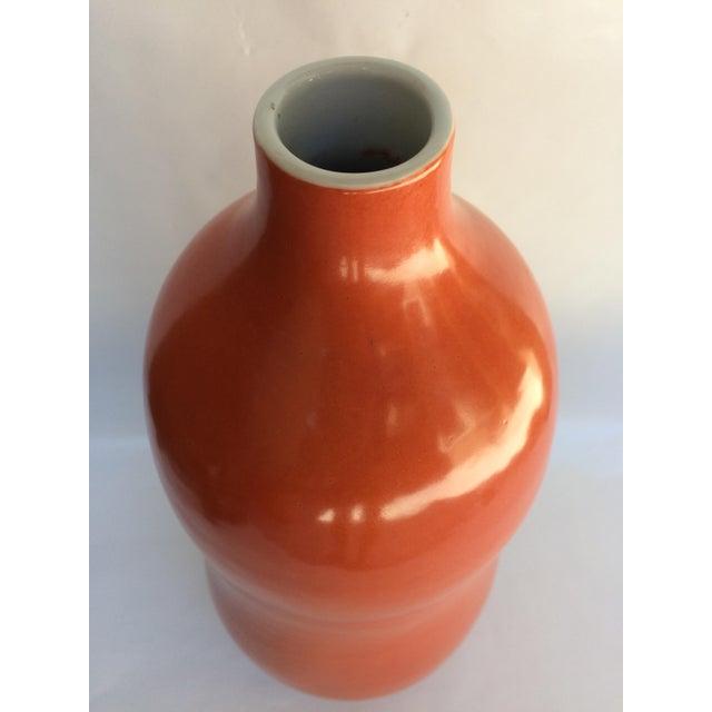 Vintage Orange Ceramic Vase - Image 4 of 5