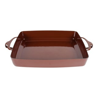 Vintage Dansk Kobenstyle Brown Enamel 10.75-Inch Baking Dish For Sale