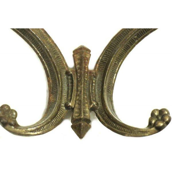 Art Deco 1920s Era Brass Hook For Sale - Image 3 of 5