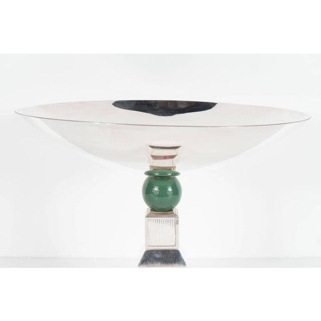Mid-Century Modernist Art Deco Style Silver-Plated Bronze Tazza by Gucci - Image 8 of 10