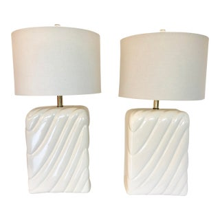 Tommaso Barbi Style Large Table Lamps For Sale