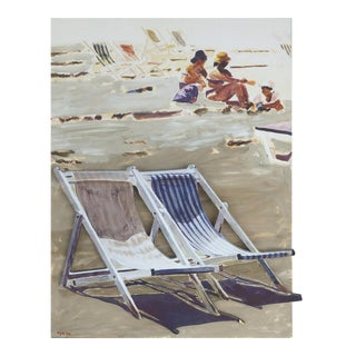 """""""Beach Chairs 1"""" 3d Artwork by Arie Azene, Signed For Sale"""