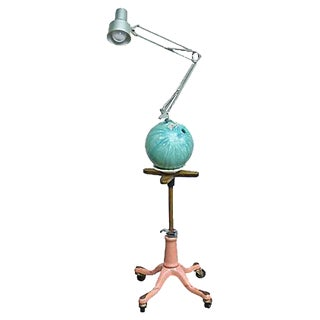 Vintage Bowling Ball Industrial Floor Lamp For Sale