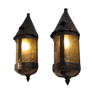Arts & Crafts Bronze & Copper Sconces - A Pair For Sale