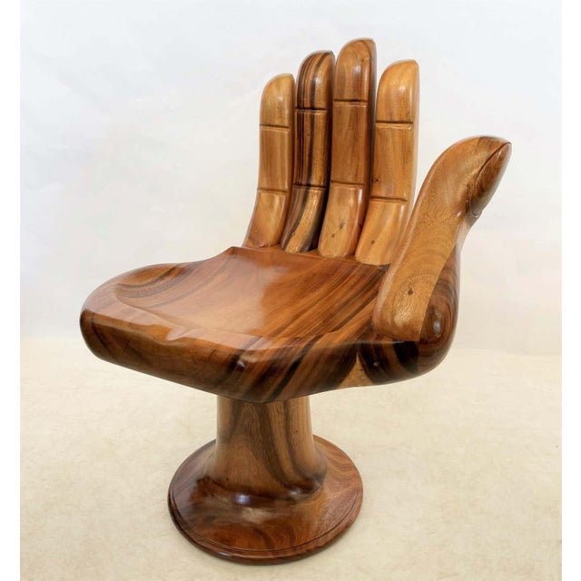 Pedro Friedeberg Style Carved Hand Chair Sculpture For Sale In Dallas - Image 6 of 8