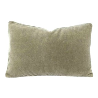 Mario Sirtori Alpaca Mohair Gray Lumbar Pillow Cover For Sale