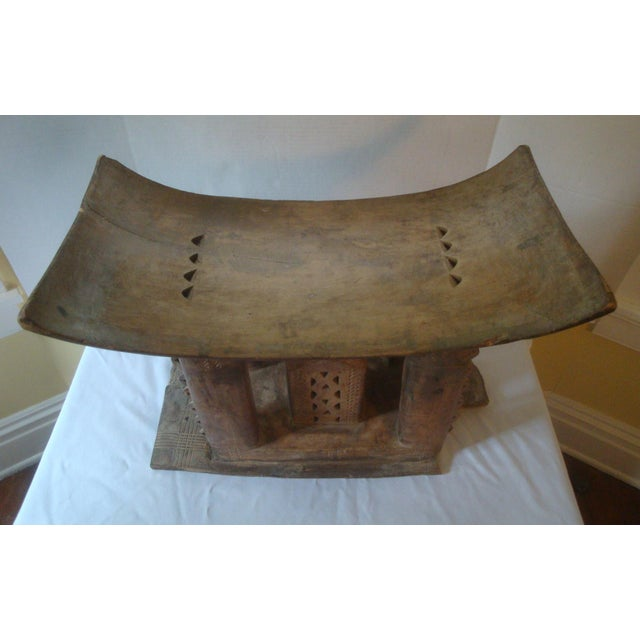 Antique African Carved Ashanti Asante Stool For Sale - Image 9 of 11