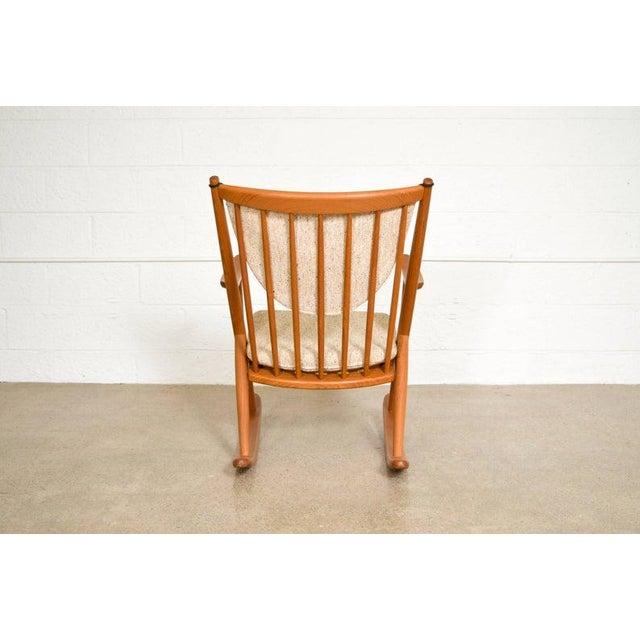 Bramin Møbler Vintage Mid Century Danish Modern Frank Reenskaug for Bramin Teak Wood Rocker Rocking Chair, 1960s For Sale - Image 4 of 11