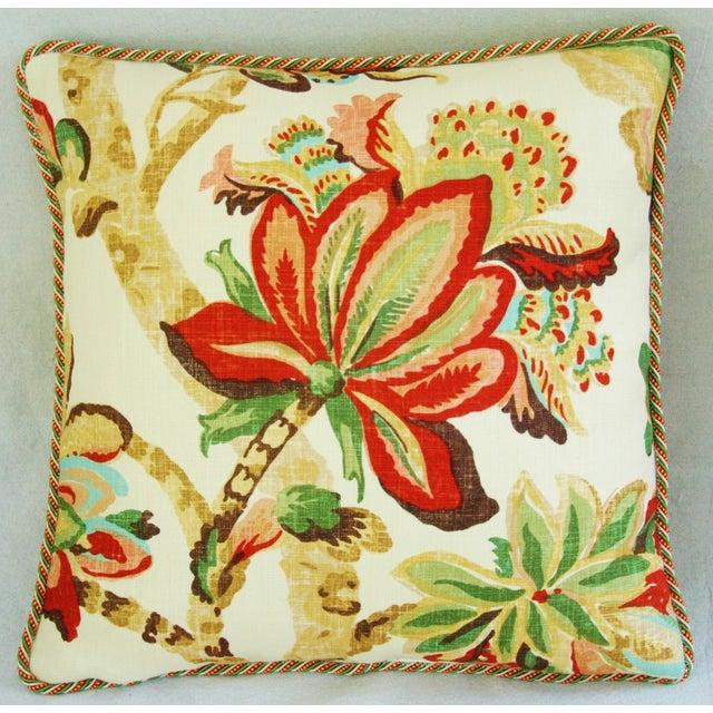 Custom Schumacher Kelmscott Manor Pillows - A Pair - Image 4 of 11