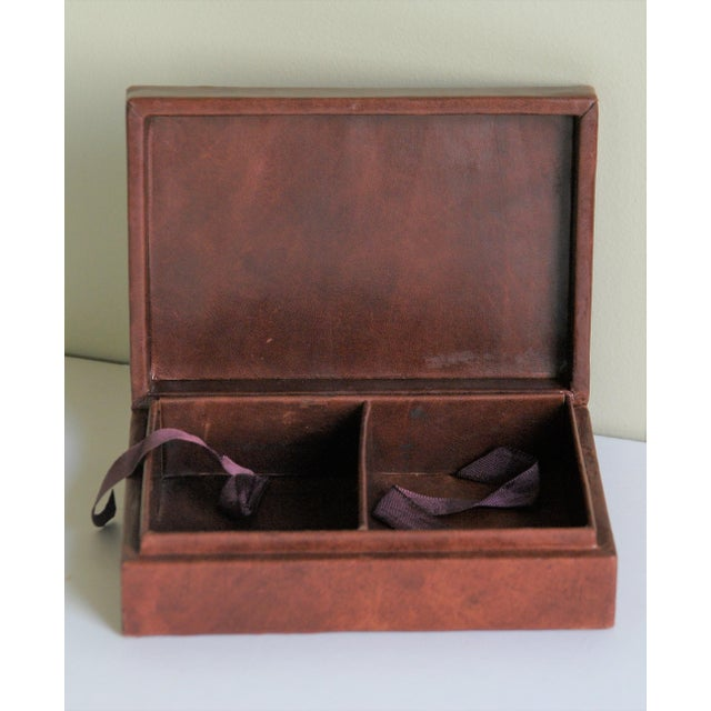 Vintage French Leather Playing Card Box For Sale - Image 9 of 13