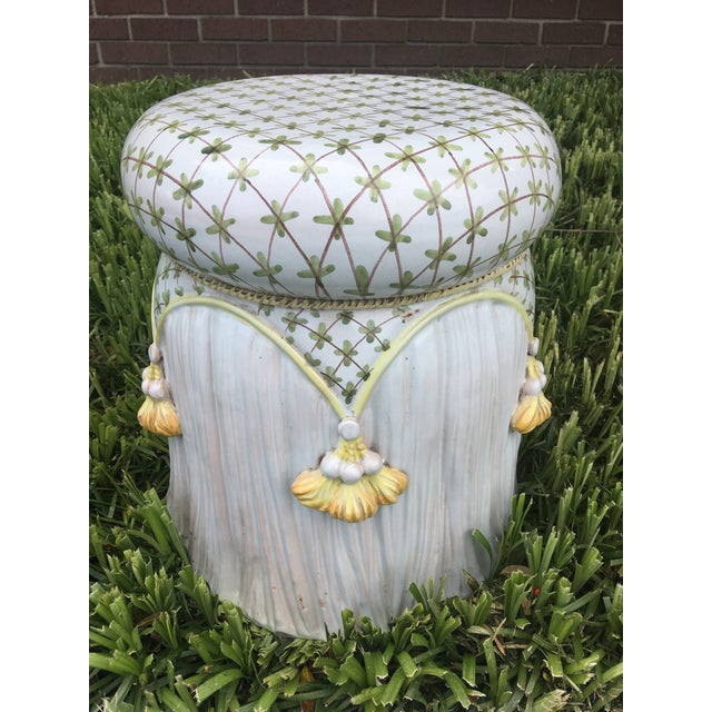 How fun and elegant this garden stool is!!!! In terra-cotta with great glazed paint, this Italian beauty is too great to...