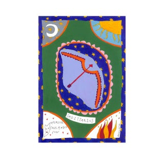 """Sagittarius Horoscope"" Contemporary A4 Giclée Print For Sale"