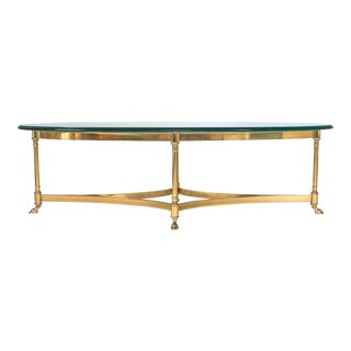 Brass & Glass LaBarge Coffee or Cocktail Table