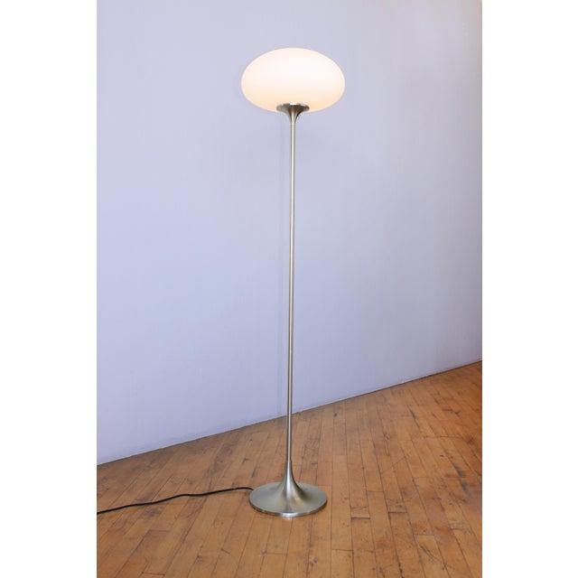 Silver Vintage Laurel Mushroom Floor Lamp For Sale - Image 8 of 8
