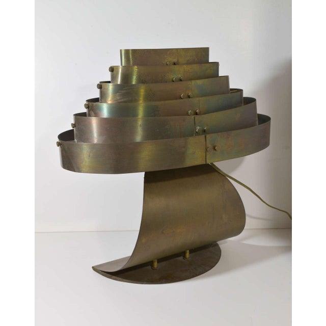 Art Deco Machine Age Kurt Versen Bronzed Streamline Table Lamp For Sale In Dallas - Image 6 of 8