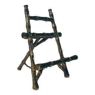 Hollywood Regency Faux Bamboo Easel