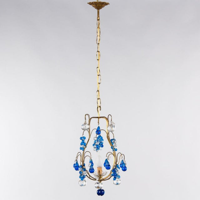 Murano Vintage Blue Murano Chandelier For Sale - Image 4 of 10