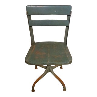 1960s Vintage Heavy Built Office Chair For Sale