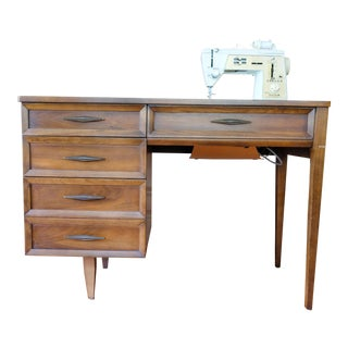 1960s Mid-Century Modern Singer Sewing Machine Desk For Sale