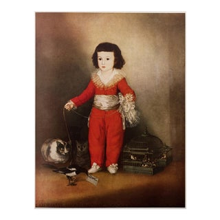 Vintage Lithograph After Goya's Red Boy For Sale