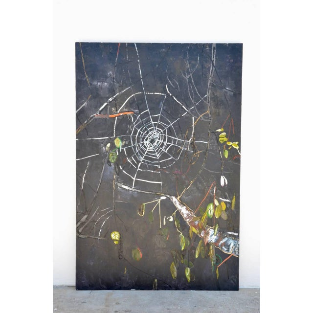Oversized oil on canvas painting by Portia Hein. Impressive scale. Very decorative. Bio: 2000 MFA Painting and Drawing,...