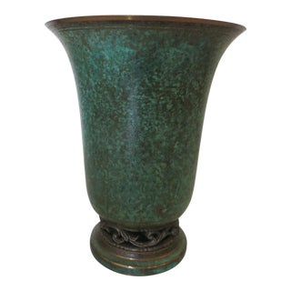 Vintage Carl Sorensen Art Deco Bronze Vessel For Sale