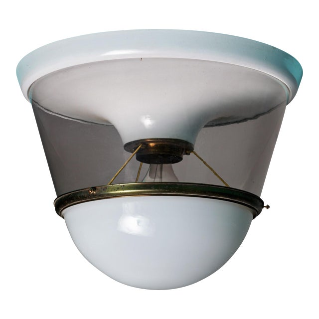 One of Two Very Large and Early Modernist Ceiling Lamps, 1920s For Sale