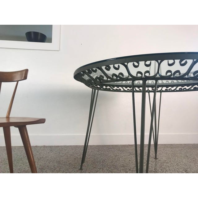 1960s Mid-Century Modern Arthur Umanoff Grenada Wrought Iron Outdoor Dining Table For Sale - Image 11 of 13