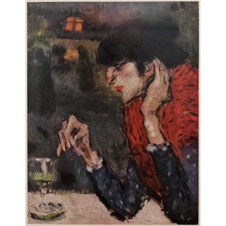 Picasso the Absinthe Drinker Original Period Lithograph For Sale