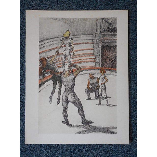 Vintage Toulouse Lautrec Lithograph-The Circus - Image 3 of 5