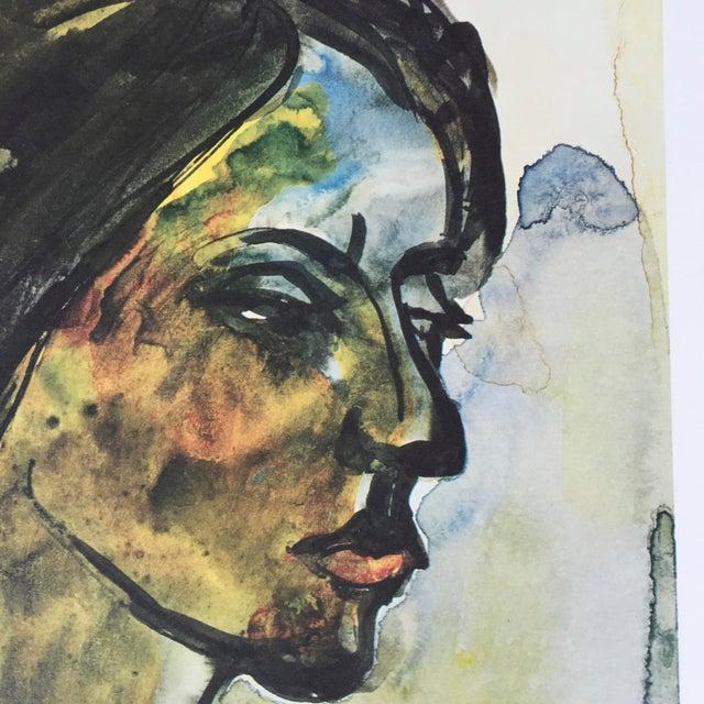 1960s Emile Nolde Watercolor Print - Image 2 of 6