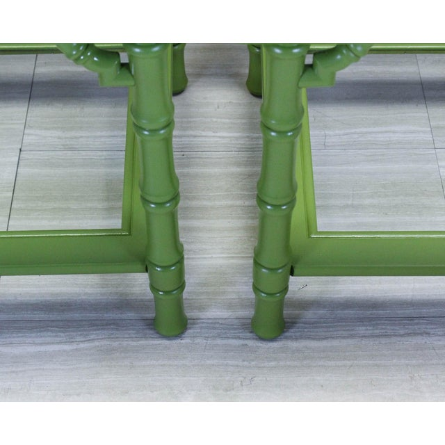 1960s Green Lacquered Side Tables - A Pair For Sale - Image 5 of 9