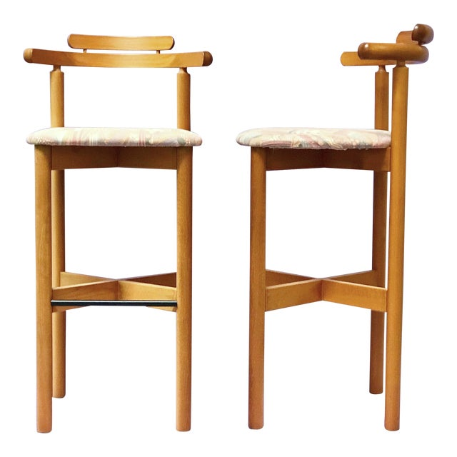 1970s Danish Modern Gangso Møbler Stools - a Pair For Sale