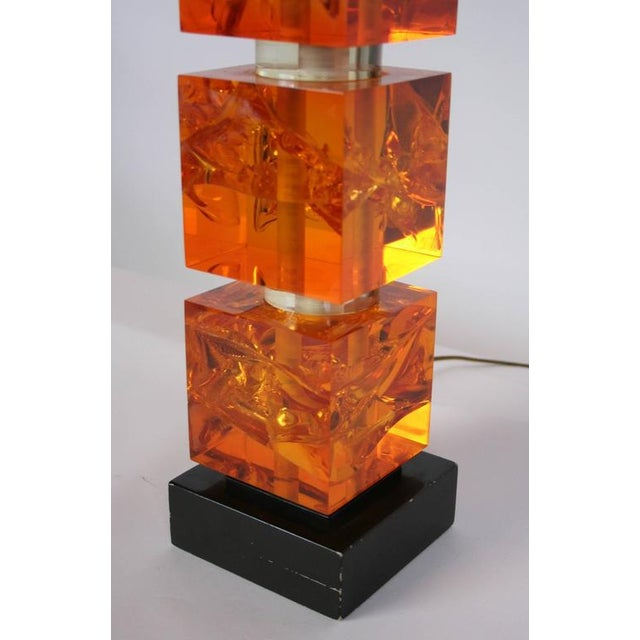 1970s 1970s French Fractal Resin Lamp For Sale - Image 5 of 5