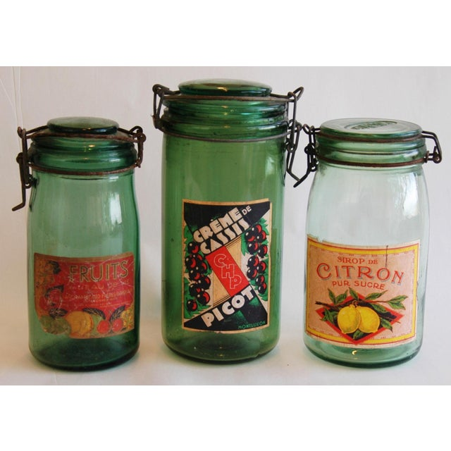 French 1930s Canning Preserve Jars - Set of 3 - Image 2 of 8