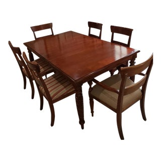 Ethan Allen -British Classics Dining Table and 6 Chairs For Sale