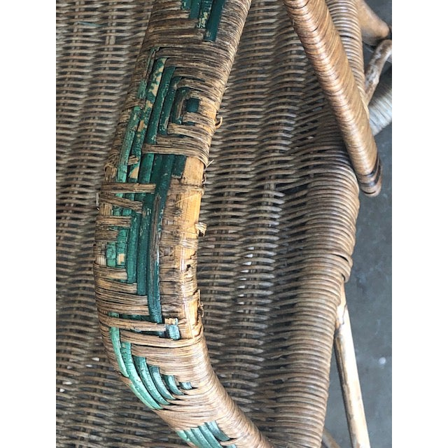 Wicker Antique Wicker Chairs-A Pair For Sale - Image 7 of 11