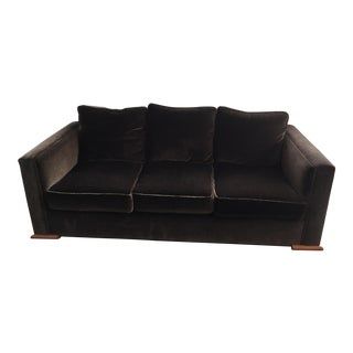 "Todd Hase ""Gerard"" Chocolate Brown French Mohair Sofa"