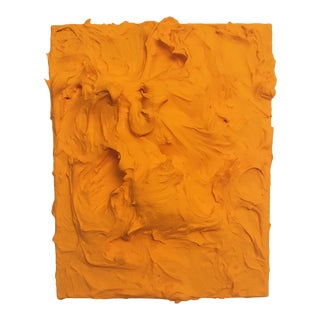 """""""Mango Excess"""" Contemporary Minimalist Textural Painting For Sale"""