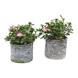 Nautical Lead Planters